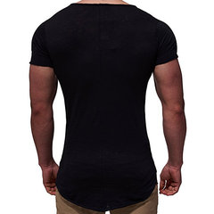 Mens Summer Breathable Solid Color Short Sleeve Slim Fit Basic Casual T Shirt