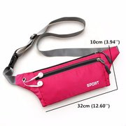 Outdoor Running Waist Bags Hiking Belt Phone Bags Sports Zipper Gym Bags Anti-theft Coin Bags