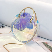 Donna Laser Impermeabile 2 PCS Beach Borsa Shiny Crossbody Borsa