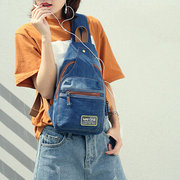Женская одежда на открытом воздухе Холст Sling Bag Denim Прочная сумка из твердого кросса