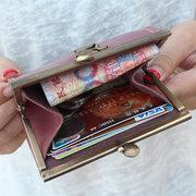 Titolare della carta delle borse della moneta del gatto del mini fumetto sveglio per la ragazza delle donne