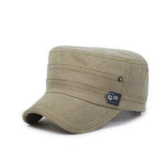 Men Women Solid Color Outdoor Sun Hat Flat Army Washed Cap
