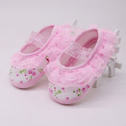 Flower Princess Girls Shoes Soft First Walker For 0-24M