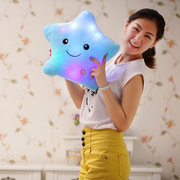 Smile Star LED Luminous Glowing Pillow Soft Relax Plush Toy Gift Children Valentines Gift