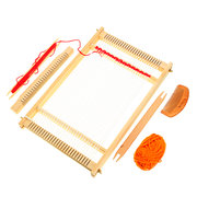 DIY Traditional Wooden Weaving Loom Machine Suitable for Weaving Beginner Kids Knitting Craft