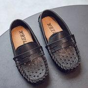 Garçon Étoile Décor Creux Respirant Comfy Bas Glissement Sur Chaussures Plates Paresseux