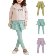 Soft Cotton Girls Skirt Pants Kids Comfy Leggings For 3Y-15Y