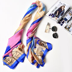 UACY 180cm*90cm Summer Thin Printing Scarf Plus Size Artificial Silk Scarf Shawl