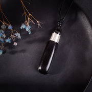 Black Sandalwood Ethnic Jewelry Necklaces Vintage Silver Accessories Charm Necklace for Unisex