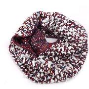 Frauen-Winter-warmer starker Kragen-Ring-Schal-bunter im Freien windundurchlässiger Schal-Halstuch-Schal