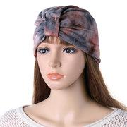 Женское Tie-dye Flexible Soft Шапка-шапочка с головной стяжкой На открытом воздухе Повседневная ветрозащитная одежда Шапка