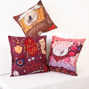 Magical Style Cotton Linen Throw Pillow Case Theme Story Square Cushion Cover Sofa Home Decor