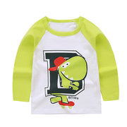 Animal Pattern Toddler Girls Long Sleeve Soft Cotton T-Shirt Tops For 1Y-5Y