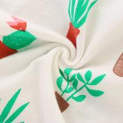 2шт Растение распечатать детские с капюшоном топы + брюки для 0-24 м