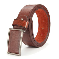 115CM Mens Business Brief Vogue Leather Belt Leisure Alloy Tablet Slide Buckle Belt