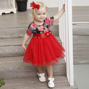 Flower Patch Toddler Girls Kids Short Sleeve Party Princess Dress For 1Y-9Y
