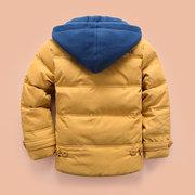 Soft Chaqueta de abrigo para niños gruesa de invierno para niños Chaqueta caliente para 4Y-13Y