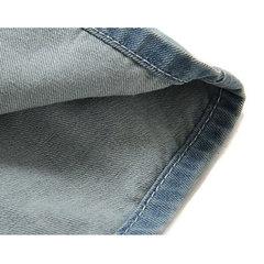 Camisas de mezclilla abotonadas y elegantes con botones en el pecho de color azul claro para hombres