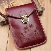 Mini sac à bandoulière à motif de fleurs vintage pour femme