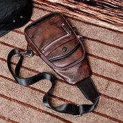 Vintage Casual Chest Bag Sling Bag Sac à bandoulière pour les hommes