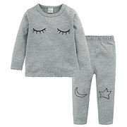 Baby Boys Girls Sleepwear с длинным рукавом Одежда для отдыха Kids Pajamas Set Girl Children Clothes Sets