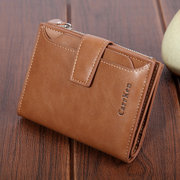 Women Faux Leather Retro Personalized Wallet Card Holder Coin Purse