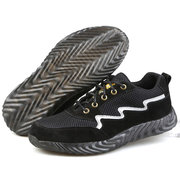 Men Steel Cap Toe Anti Smashing Puncture Proof Lace Up Safety Work Shoes
