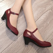 Buckle Strap Chunky Heel Mary Jane Shoes