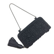 Woven Hand-woven Genuine Leather Multi-slot Crossbody Wallets Purses Clutch Bags