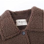 الفتيان معطف الظهر طباعة أطفال الخريف الشتاء زر جاكيتات ل 3 Y-13Y
