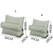 Triangular Backrest Cushion For Sofa Multifunction Thick Corduroy Pillow Back Support