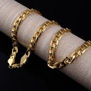 أزياء الهيب هوب سلسلة ذهبية قلادة شخصية قلادة الجانب شقة للرجال