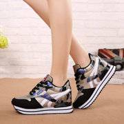 New Camouflage Shoes Fashion Platform Casual Shoes Increase Women's Shoes Women's Sports Shoes