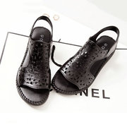 Hollow Out Cow Leather Sandals