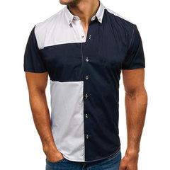 Chemises pour hommes Chemise à manches courtes Europe et Amérique de grande taille Couture Casual Slim pour hommes