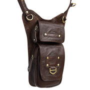 Ekphero Genuine Leather Shoulder Bag First Layer Cowhide Leisure Vintage Crossbody Bag For Men