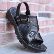 Sandali casual da spiaggia con cinturino e cinturino regolabile in pelle