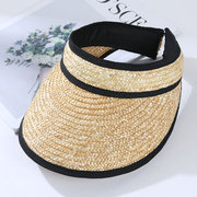 Ins Empty Top Sunshade Hat Donna Day Simple Tide Street Protezione solare Outdoor Empty Top Sottile Straw Straw Hat