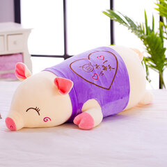 Large Size Smile Pig Pillow Crystal Velvet Cotton Fabric Stuffed Pig Toys Home Decor Child Gifts