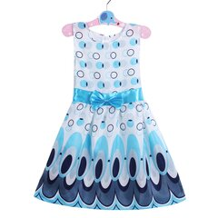 Unique Printed Girls Casual Sleeveless Dresses with Bow Kids Summer Dress for Party School