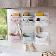Настенный Стеллаж Для Хранения Без Следов Сильный Висит Стеллаж Для Хранения Кухня Ванная комната Настенный Хранение Коробка