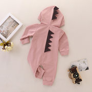 Cute Dinosaur Pattern Unisex Kids Long Romper For 0-24M