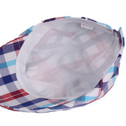 Womens Cotton Colorful Plaid Square Sommermütze Duckbill Ivy Cap Flat Cabbie Zeitungsjunge Barett Hut