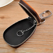 Vintage Genuine Leather Car Key Holder Key Bag Keychain Wallet For Men Women
