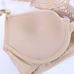Front Closure Metal Fastening Adjustable Push Up Embroidery Strappy Back Bras