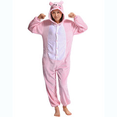 Plus Size Cute Animal Unicorn Cosplay Sleepwear Flannel Unisex Jumpsuits Pajamas