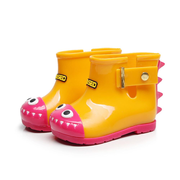 Unisex Cute Dinosaur Cartoon Waterproof Rain Boots For Toddler And Kids
