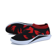 Men Strech Knitted Fabric Breathable Sneakers Sport Casual Trainers