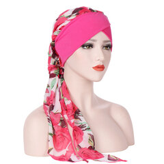 Womens Vintage Breathable Comfortable Chiffon Hat Casual Elastic Beanie Hats Headpiece