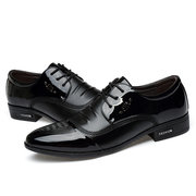 Homens Classic Preto Lace Up Business Casual sapatos de vestido formal